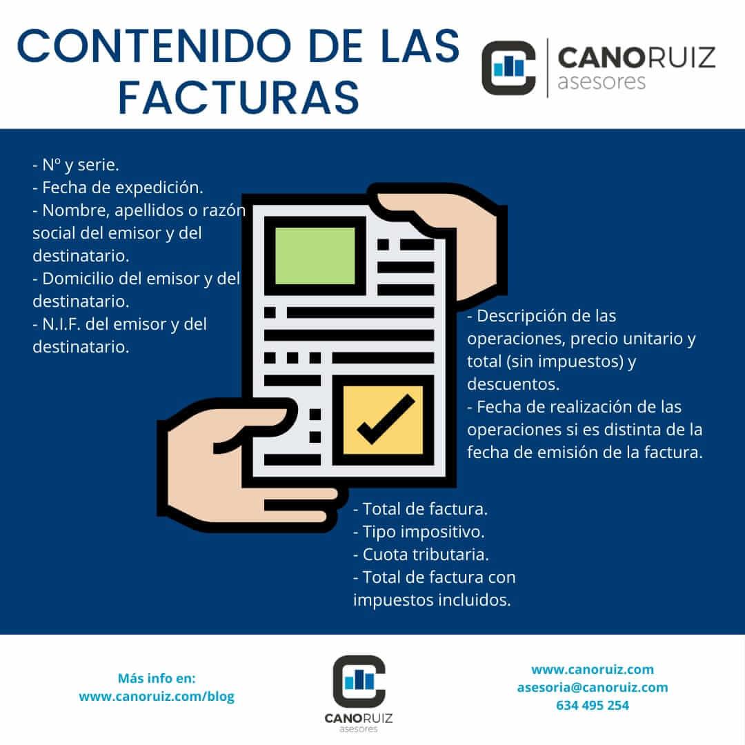 El contenido mínimo de las facturas | Asesoría Fiscal en Sevilla